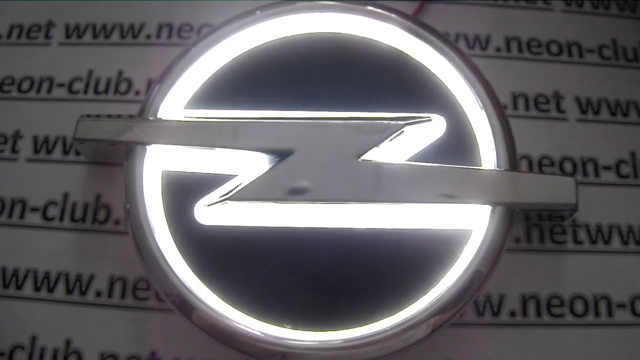 5d Emblem With Light Opel Led Car Badge Logo Sticker White Youtube