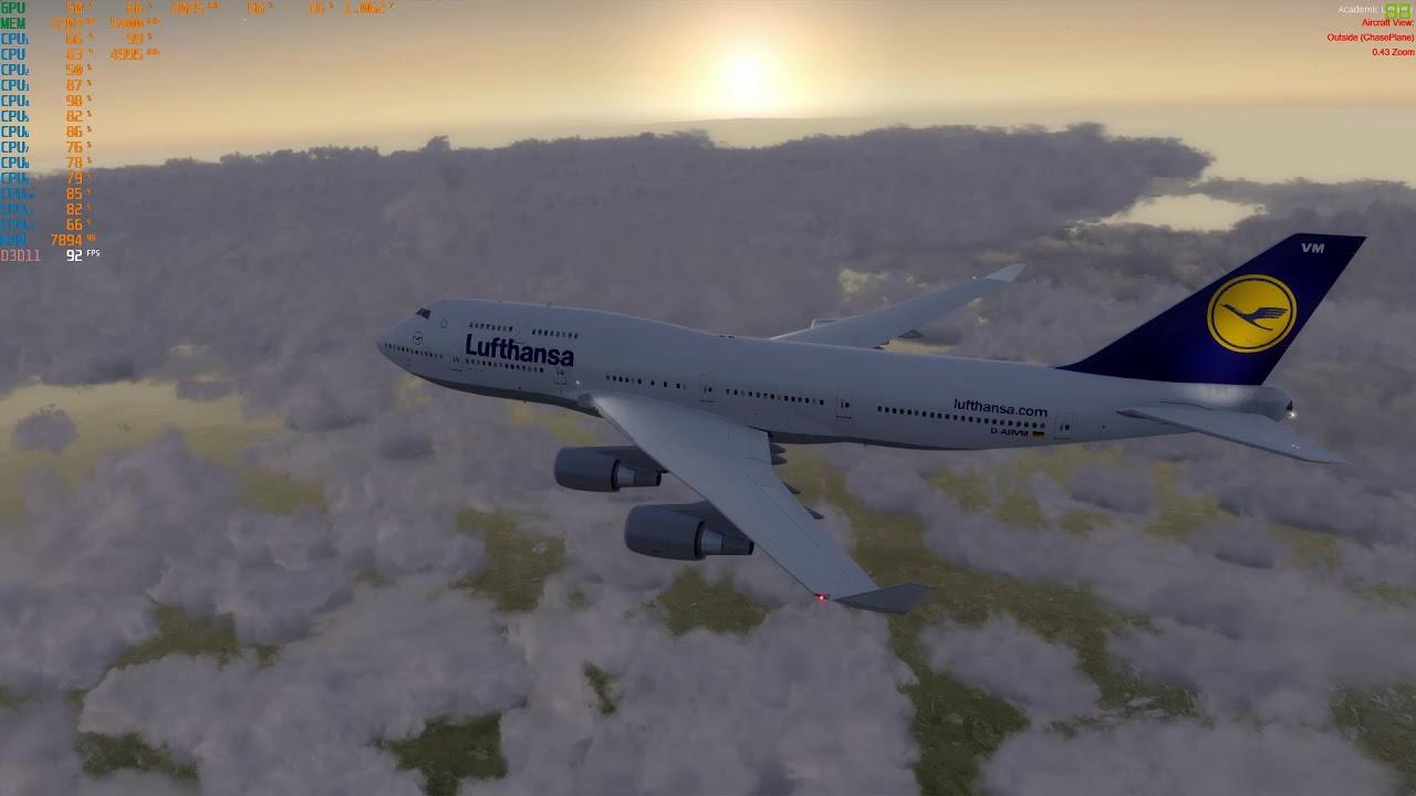 8700k in P3d: PMDG 747 to Frankfurt by Hans N