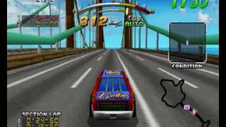 "Daytona USA Deluxe - Hornet ""Daytona"" Unlockable car on Sea-side street Galaxy"