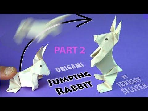 Origami Jumping Rabbit Part 2: Extra Shaping.