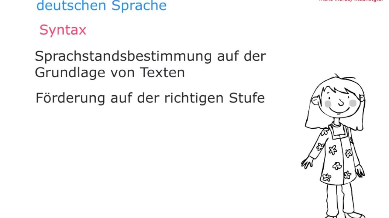 Besonderheiten der deutschen Sprache - Syntax - YouTube