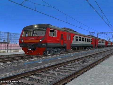 Trainz: ЭД4М-0442 с Пригородным Поездом Водопадный-Туапсе