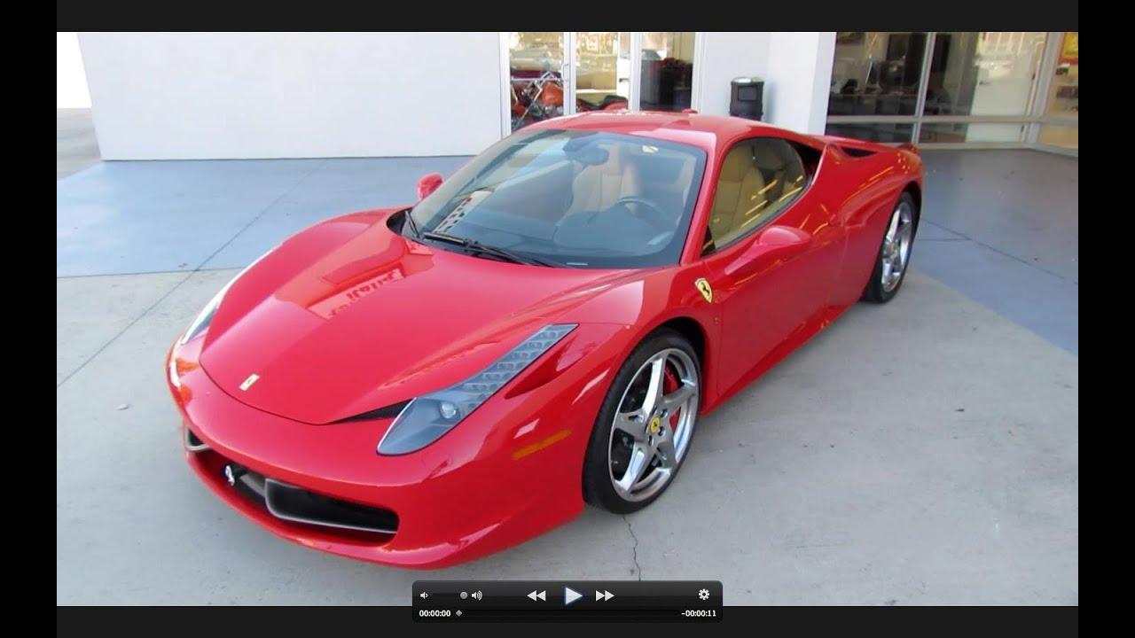 2010 ferrari 458 italia start up exhaust and in depth tour youtube - Ferrari Italia 458