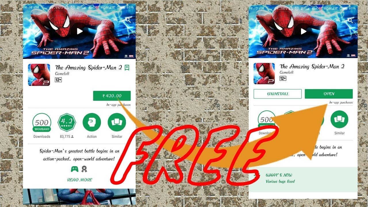 How to download The Amazing Spider Man 2 Free from play store (100% Working)