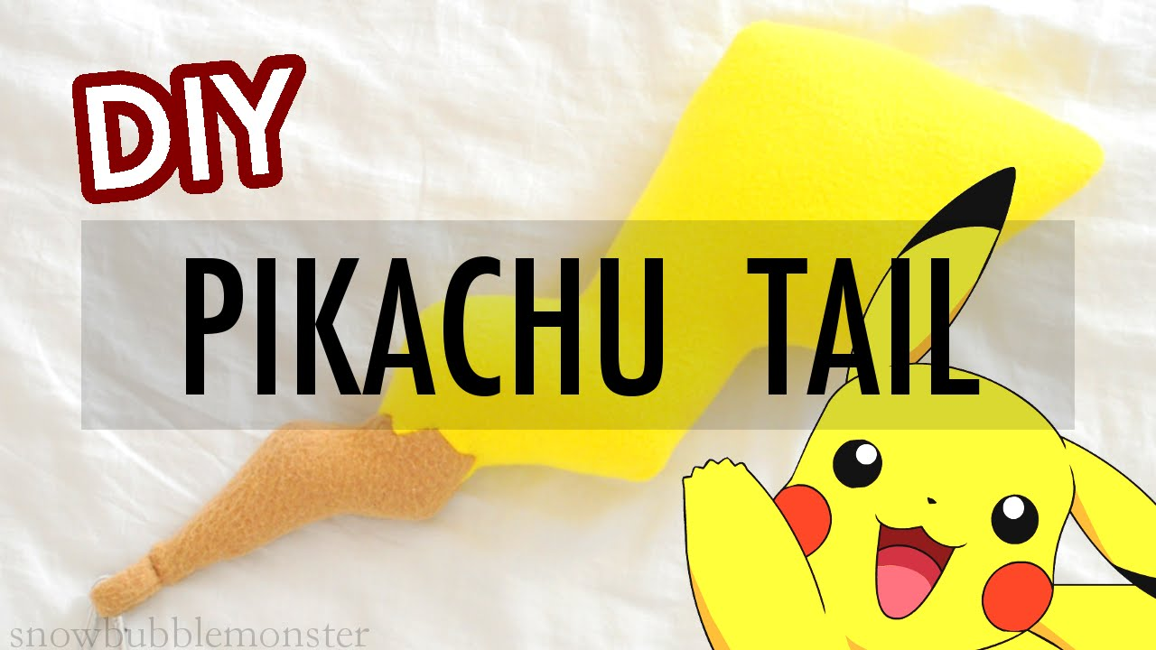 Diy pikachu tail cosplay fashion accessory pokmon diy pikachu tail cosplay fashion accessory pokmon snowbubblemonster youtube pronofoot35fo Gallery