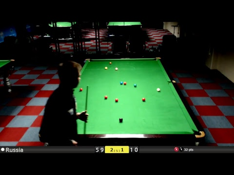 D3S1T3 Snooker World Team Cup Last 16 : Russia vs Iceland