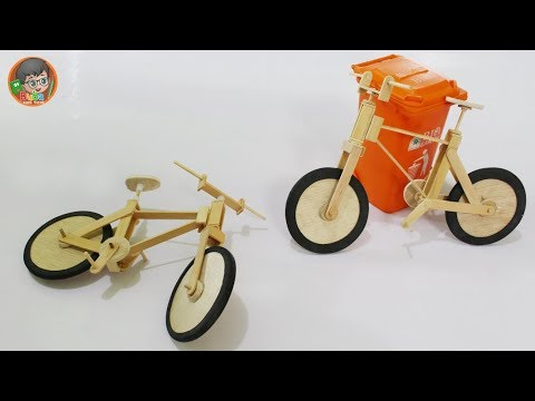 How to Make Toys Fixie Bikes from Popsicle Stick | AWESOME DIY TOYS !