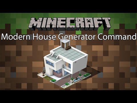 Minecraft Command รีวิว - สร้างบ้านโมเดิล | Modern House Generator [1.10.2]