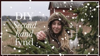 Upcycling my Christmas second hand finds | Thriftflip | Vlogmas 2020