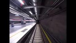 Länsimetron koeliikenne: Kamppi-Matinkylä-Ruoholahti. West metro test run. (Helsinki metro)