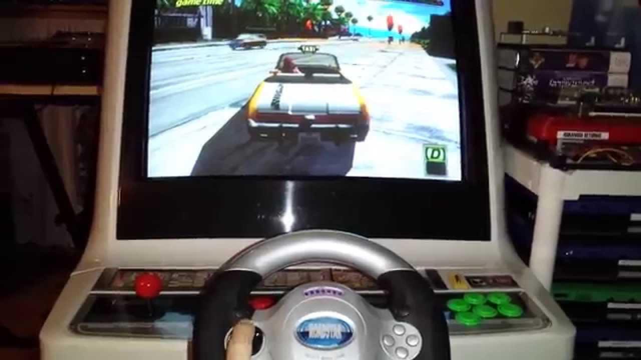Racing Wheel Demo using JVS I/O Helper PCB