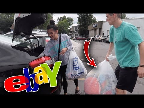 Thrifting at the Goodwill Outlet Bins! | HUGE Clothing Haul for eBay resell
