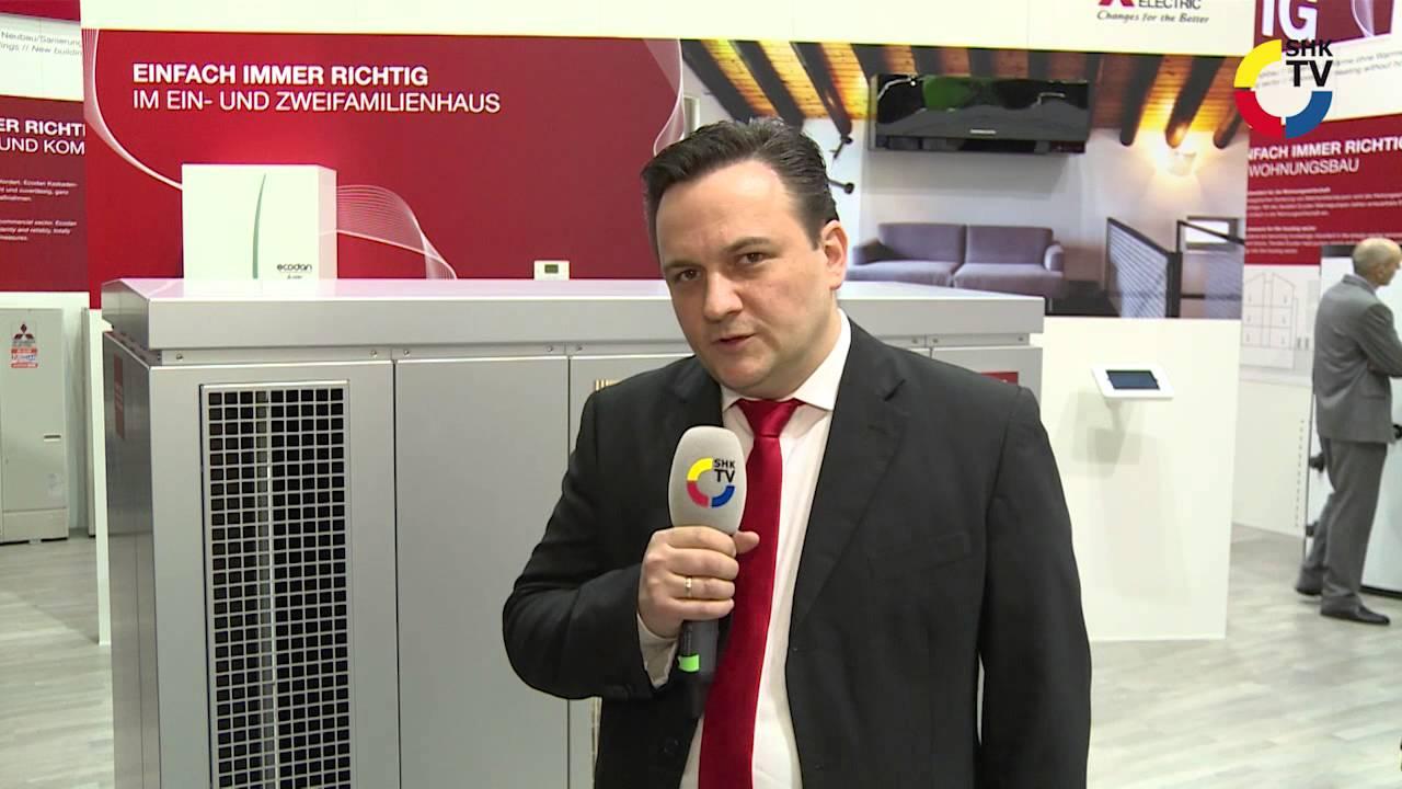 mitsubishi electric: schalldämmhaube von ecodan wärmepumpen - youtube
