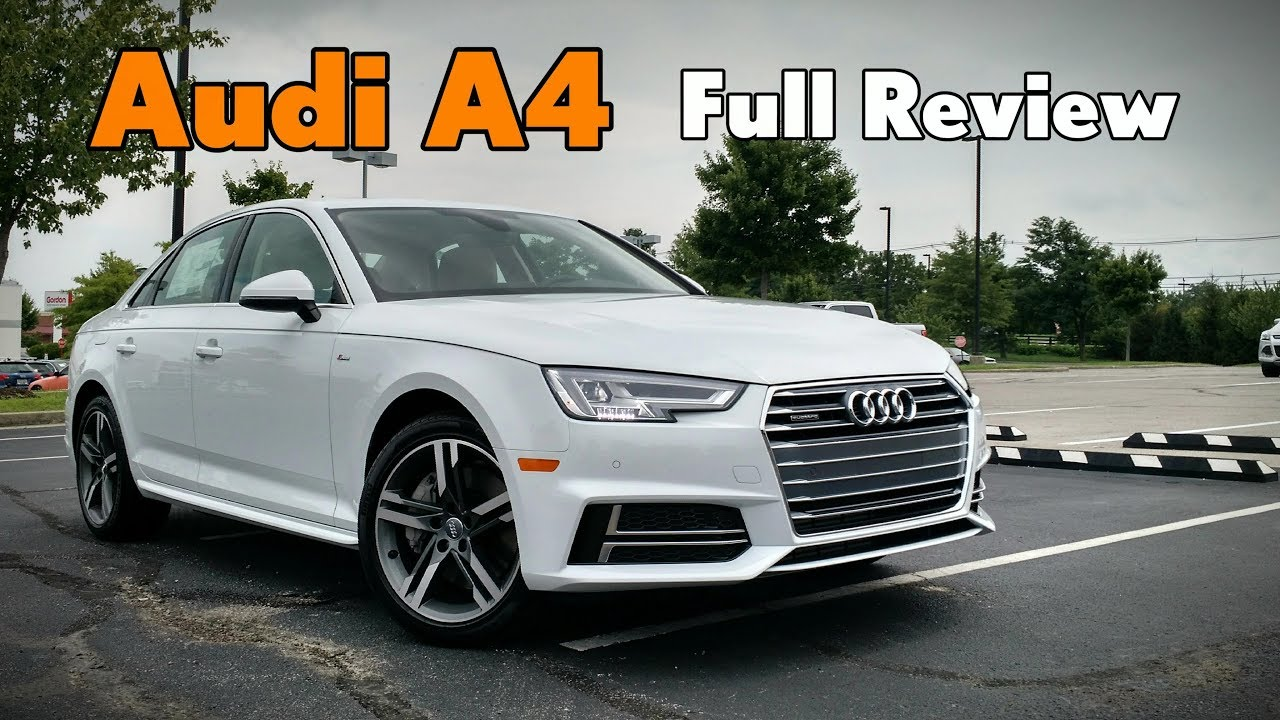 2018 audi a4 sedan full review prestige premium plus premium youtube. Black Bedroom Furniture Sets. Home Design Ideas