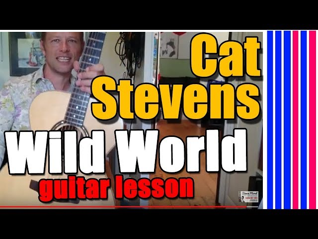 How to play Wild World - Cat Stevens guitar lesson