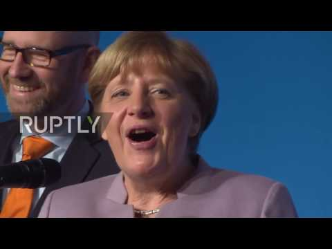 Germany: Merkel jokes about male members of CDU at party conference