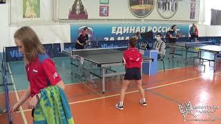 4к Толмачева Варвара и Позняева Анастасия. Турнир по настольному теннису город Гагарин 9-11 апреля