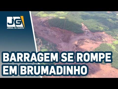 Barragem da Vale se rompe em Brumadinho em MG