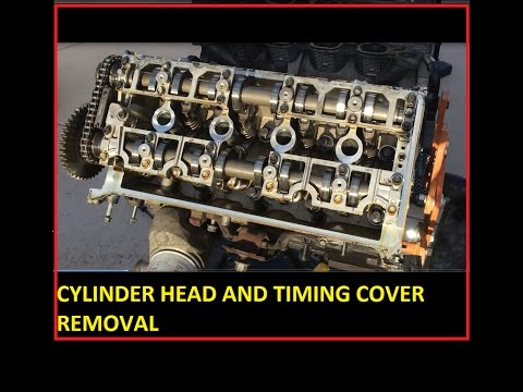 Part 4 Cam covers, water pump, Timing cover and cylinder head removal 4.6L Mustang