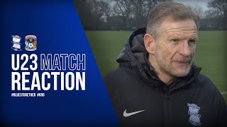 Spooner - We controlled the game | Blues U23s 3-1 Coventry U23s