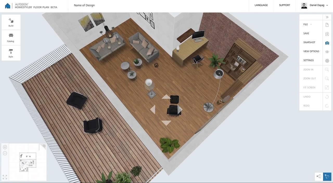 Homestyler Floor Plan Beta: Aerial View of Design - YouTube