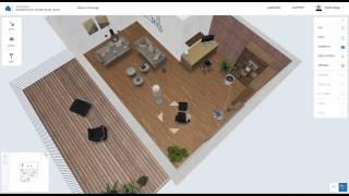 Homestyler Floor Plan Beta:  Aerial View Of Design
