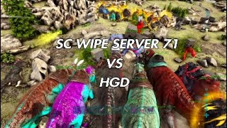 Ark PVP OFFICIAL - SC VS HGD ON 71 [WIPE PART 1]