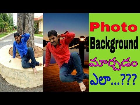 Change Photo background || PicsArt telugu || Android boy gopal