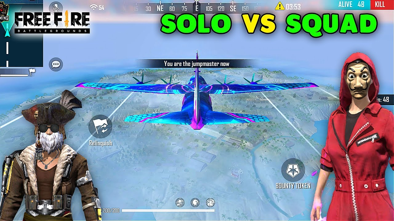 Free Fire Solo vs Squad Best Scar AWM and M1887 Gameplay | Garena Free Fire
