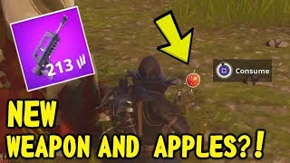 *NEW* FORTNITE APPLE + NEW FAMAS GAMEPLAY (Fortnite: Battle Royale)