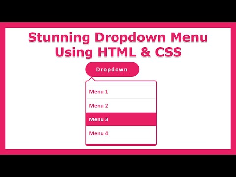 Stunning dropdown menu tutorial using html and css | tips & tricks | animated | Web Learners Hub thumbnail