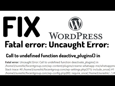 WordPress call to undefined function do shortcode