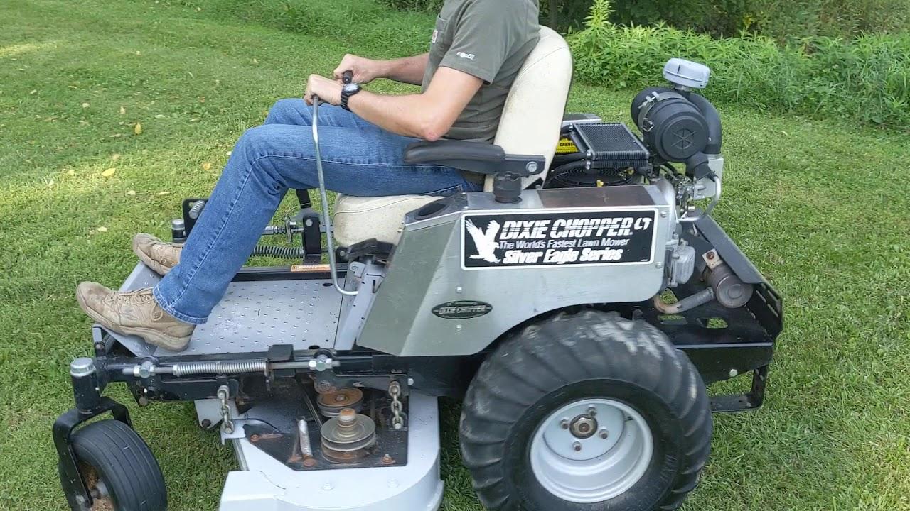 2005 Dixie Chopper Silver Eagle Series LT2400 Zero Turn Mower: Mowing Grass  Inspection! Fast Mower!
