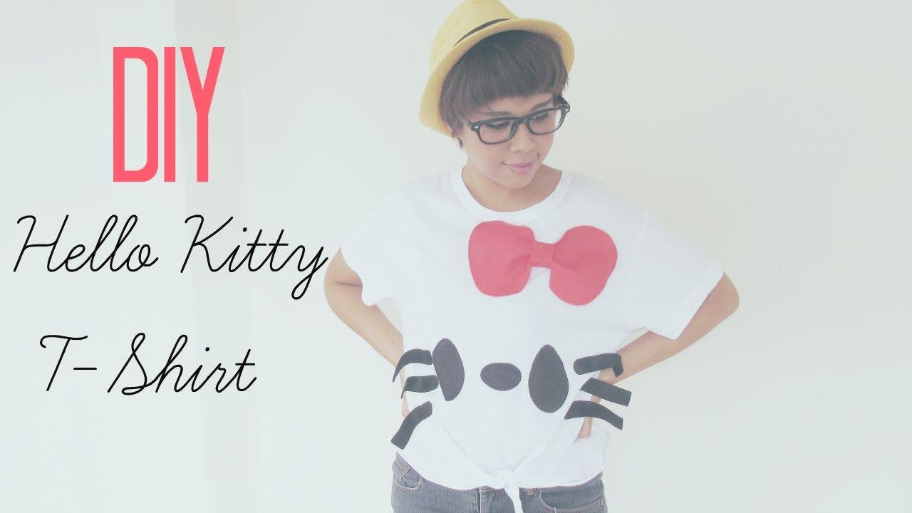 Design your own hello kitty t-shirt - Diy Fashion Sharpie Hello Kitty T Shirt Tutorial