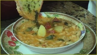 Cuban Caldo Gallego - Galician White Bean Soup