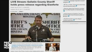 WATCH LIVE: Montana sheriff updates assault case of candidate Gianforte