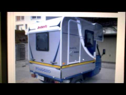 VESPA PIAGGIO APE MOCA CAMPER unit dethleffs