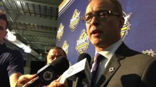 Winnipeg Jets head coach Paul Maurice on day 2 of the 2016 NHL Entry Draft