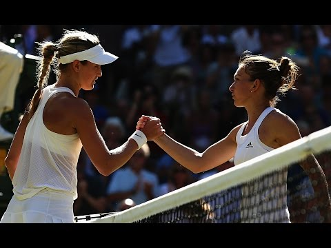 Eugenie Bouchard VS Simona Halep Highlight (Wimbledon) 2014 SF
