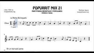 21 de 30 Popurrí Mix Partituras Populares Infantiles de Oboe La Reina Berenguela
