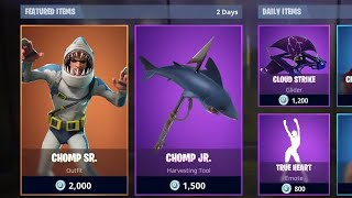 *NEW* CHOMP SR. SHARK SKIN!!! (Including Daily Items) | Fortnite: Battle Royale