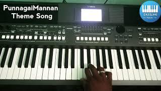 PunnagaiMannan Theme Song | Keyboard Cover | KamalHaasan | Ilaiyaraja | Dazzling Melodies |