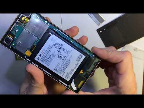 Sony Xperia Z5 E6603 E6653 - замена батареи аккумулятора / Battery Replacement