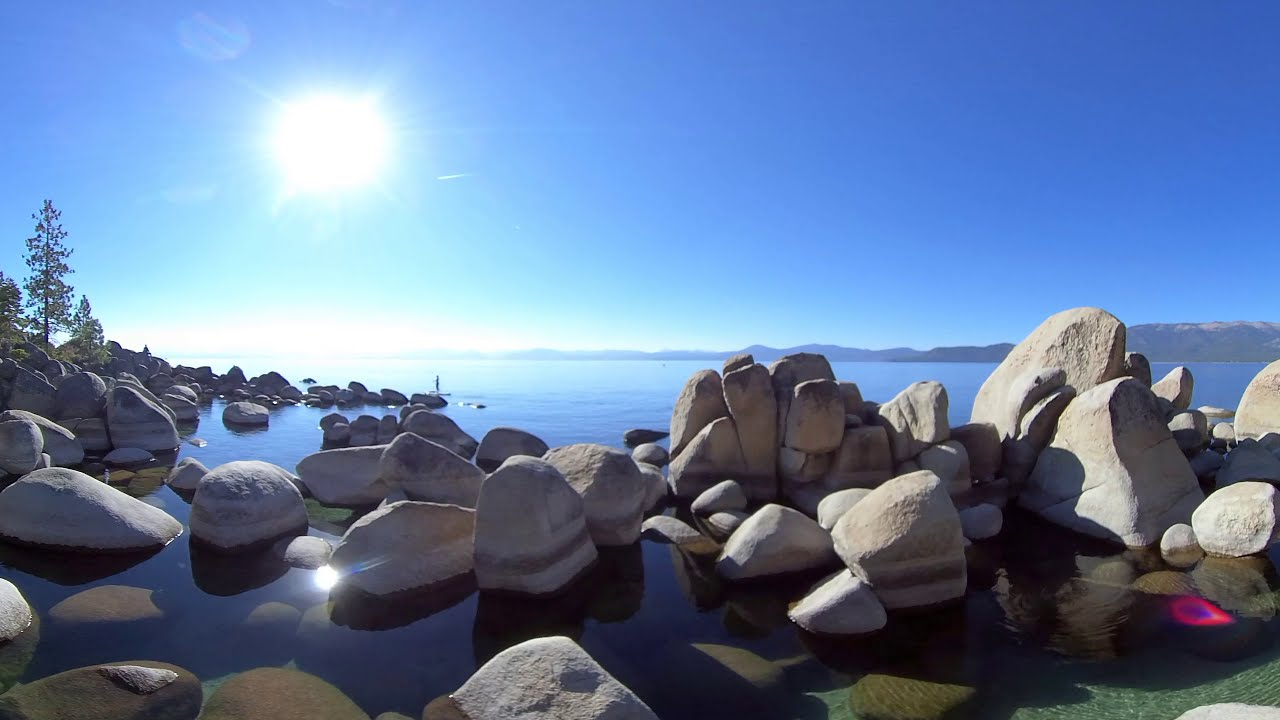 De Paseo Por Lago Tahoe. 5K Video 360. Agua Azul (Lake Tahoe 5k 360 video)