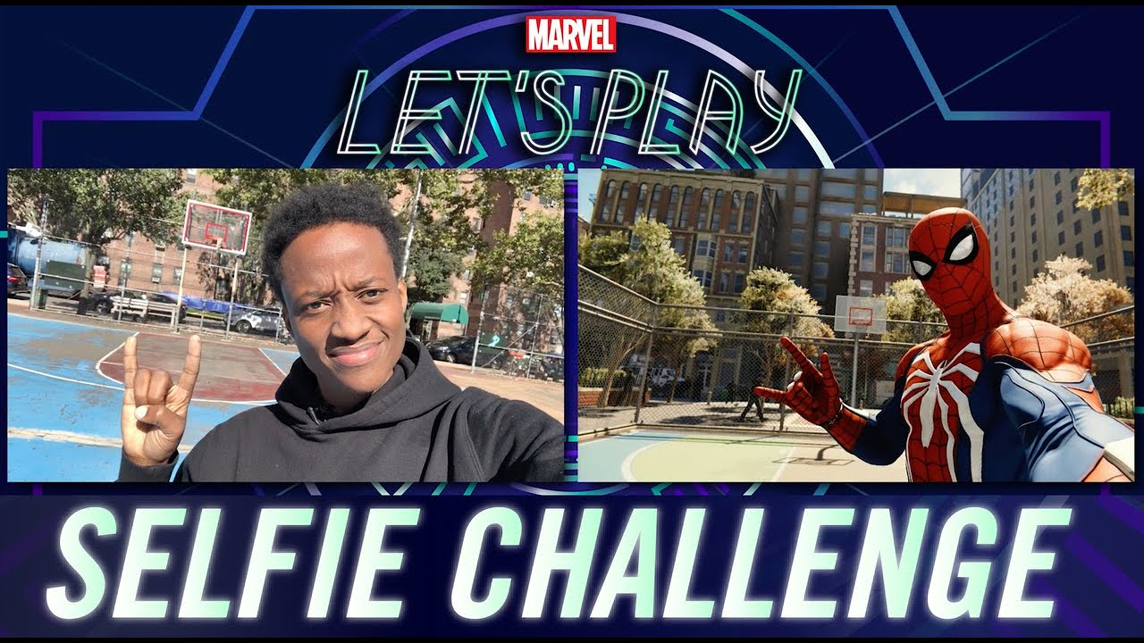 Nore Davis tries to recreate his Marvel's Spider-Man selfies in real life! | Marvel Let's Play