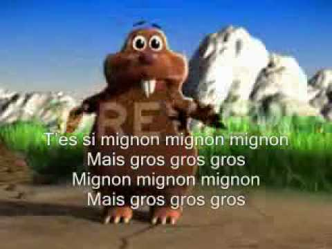 KARAOKE René La Taupe : Mignon Mignon !!