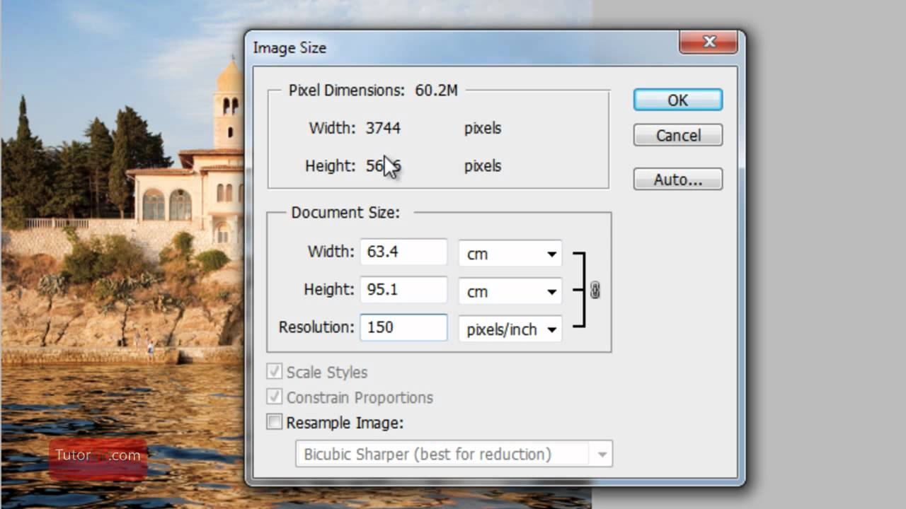 Photoshop dpi change how to in