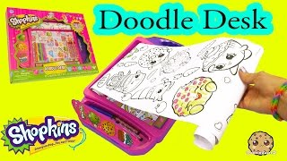 Shopkins Doodle Desk with Coloring Crayons + Markers Art Set - Cookieswirlc Video thumbnail