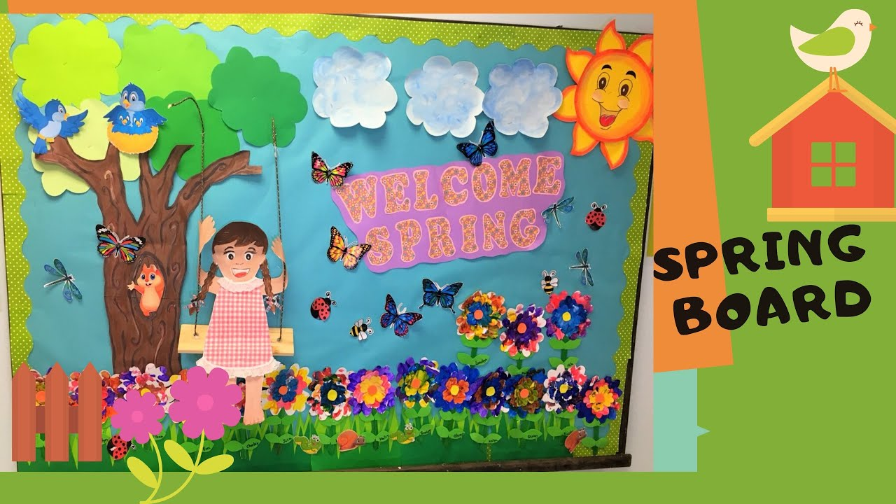 Spring Bulletin Board Preschool Ideas Classroom Decoration Youtube