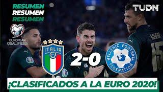 Resumen y goles | Italia 2 - 0 Grecia | UEFA European Qualifiers | TUDN